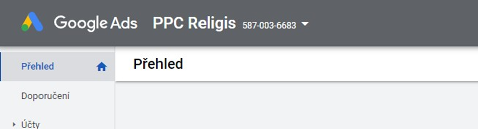 Číslo Google Ads účtu
