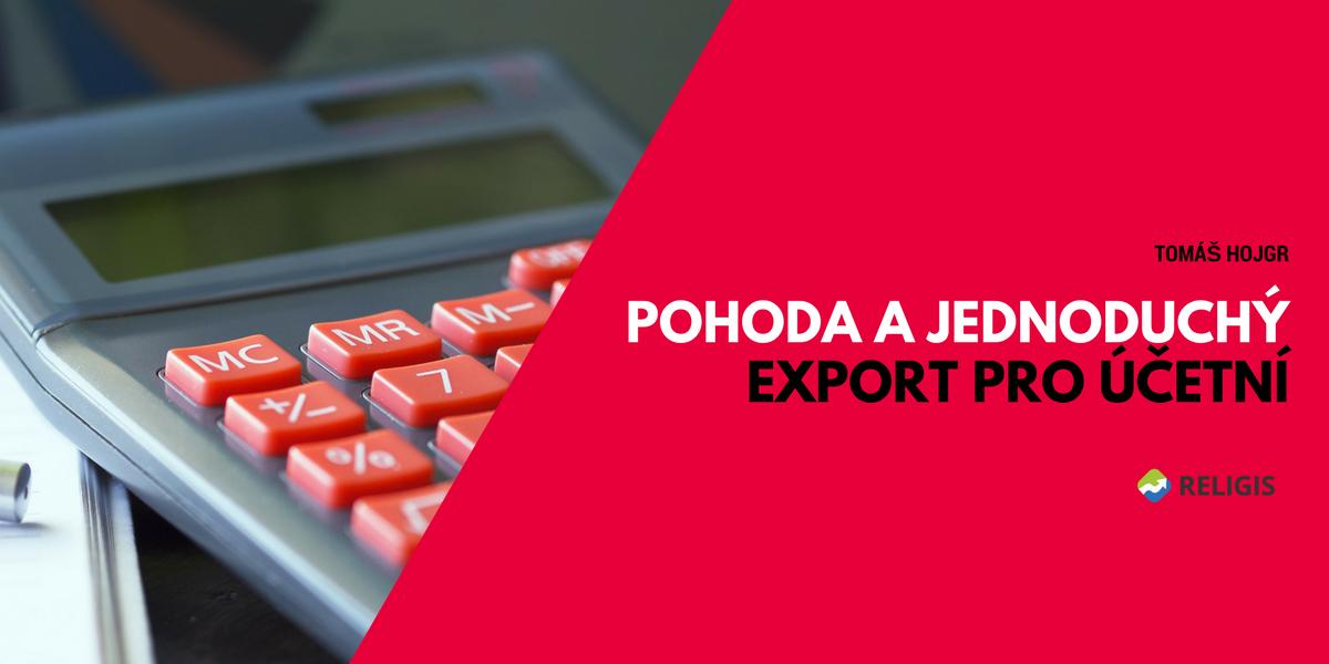 Pohoda a jednoduchý export pro účetní