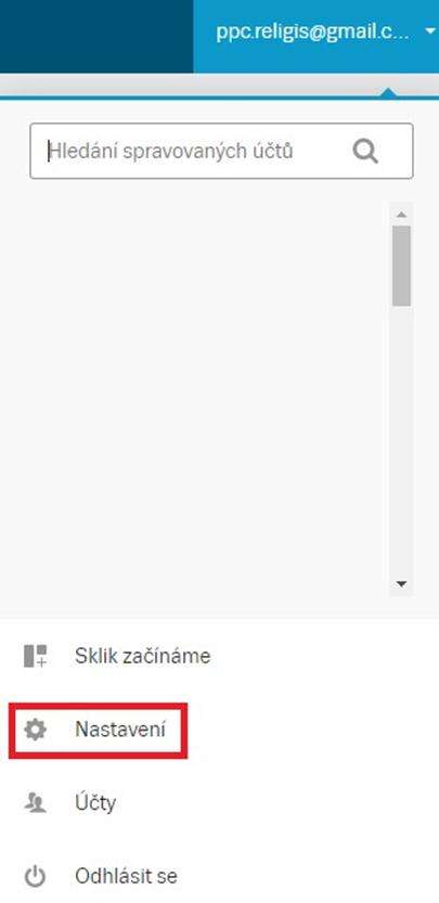 Přihlášení Sklik